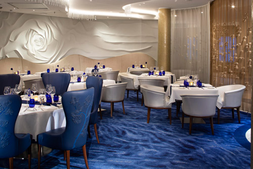 The Blu restaurant with the Creative Matters carpet design installed. Photo: Michel Verdure