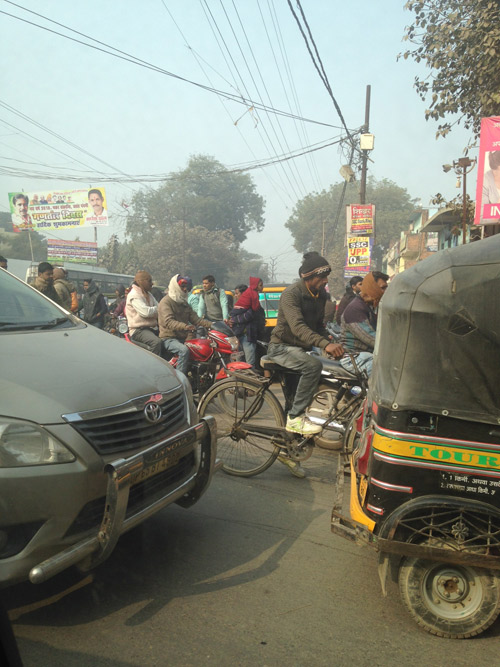 In India the traffic congestion can feel a bit overwhelming for your average Toronto rug designer.