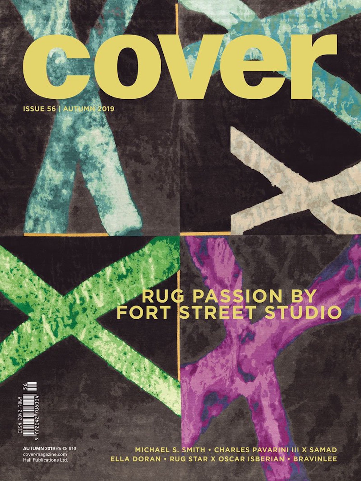 """COVER MAGAZINE & TEXTILES FOR MODERN INTERIORS  Autumn, 2019, """"Flair for stairs"""", by Malin Lonnberg, pp 154-155."""