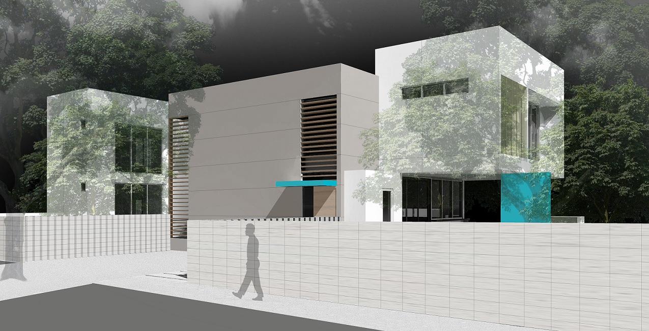 The Setting Homes Indigo House Miami Florida Exterior Render TARIS Real Estate