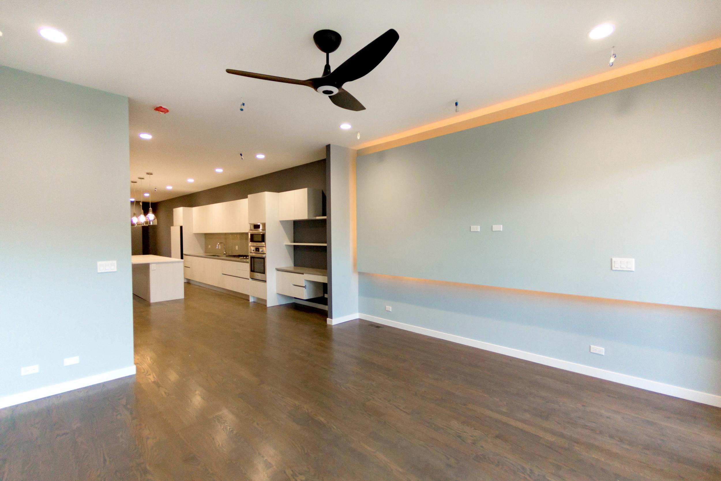 2440 West Ohio Chicago Interior Living Room TARIS Real Estate