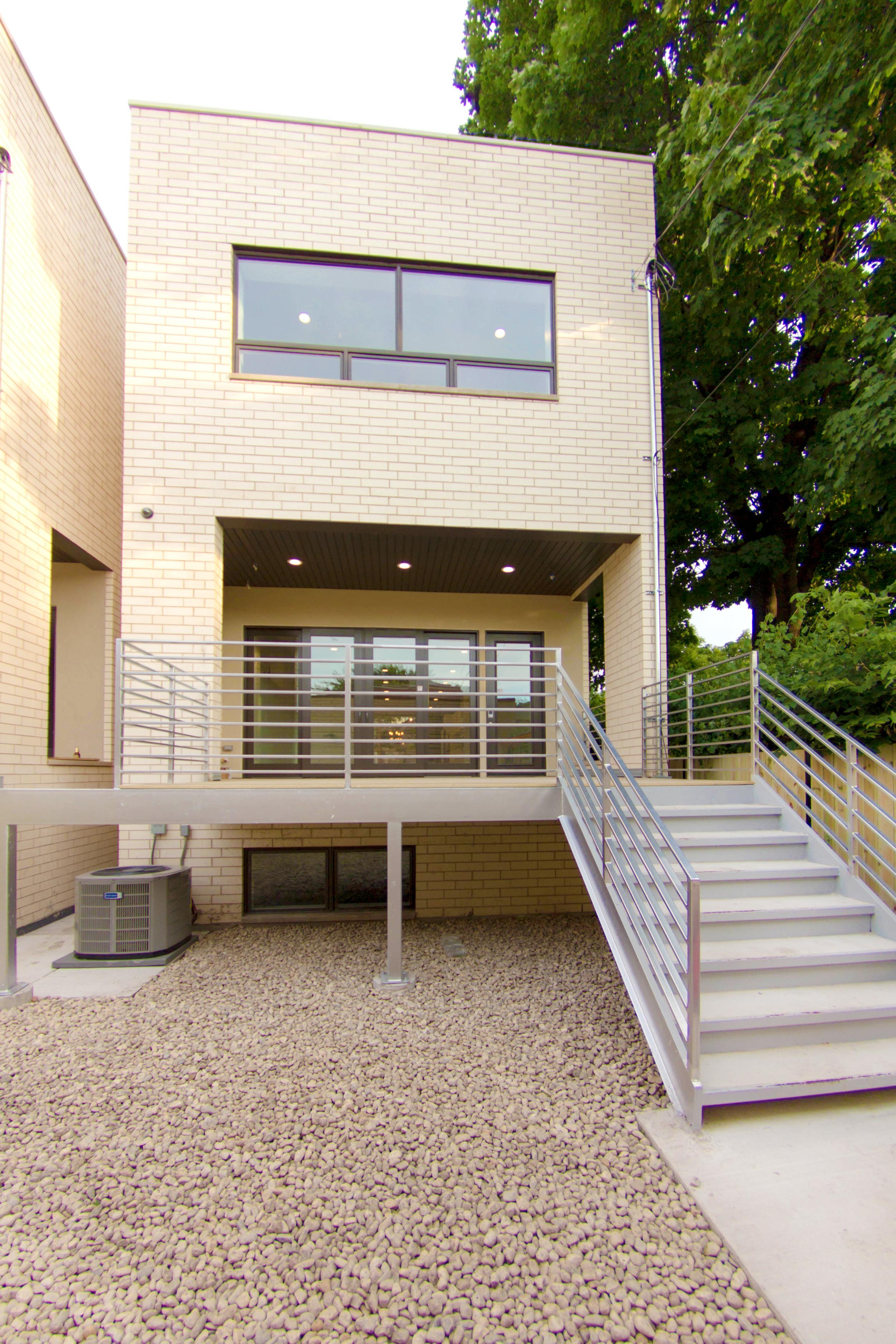 2440 West Ohio Chicago Exterior Rear Deck TARIS Real Estate