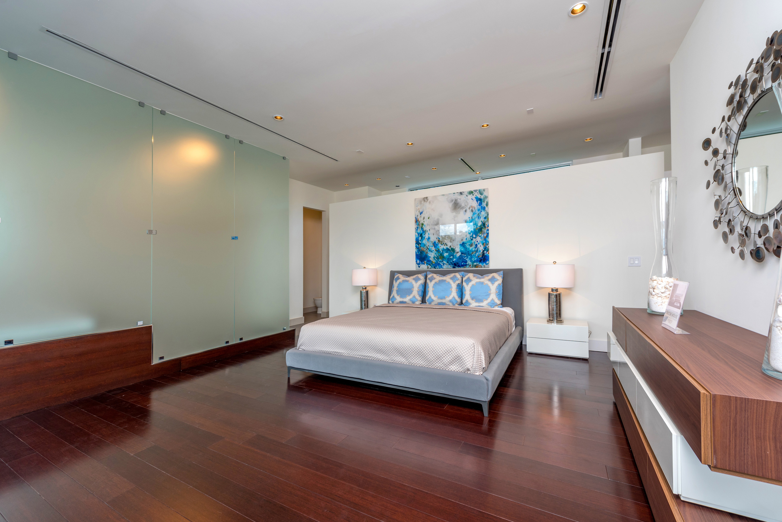 The Setting Homes Plum House Miami Florida Interior Master Bedroom TARIS Real Estate