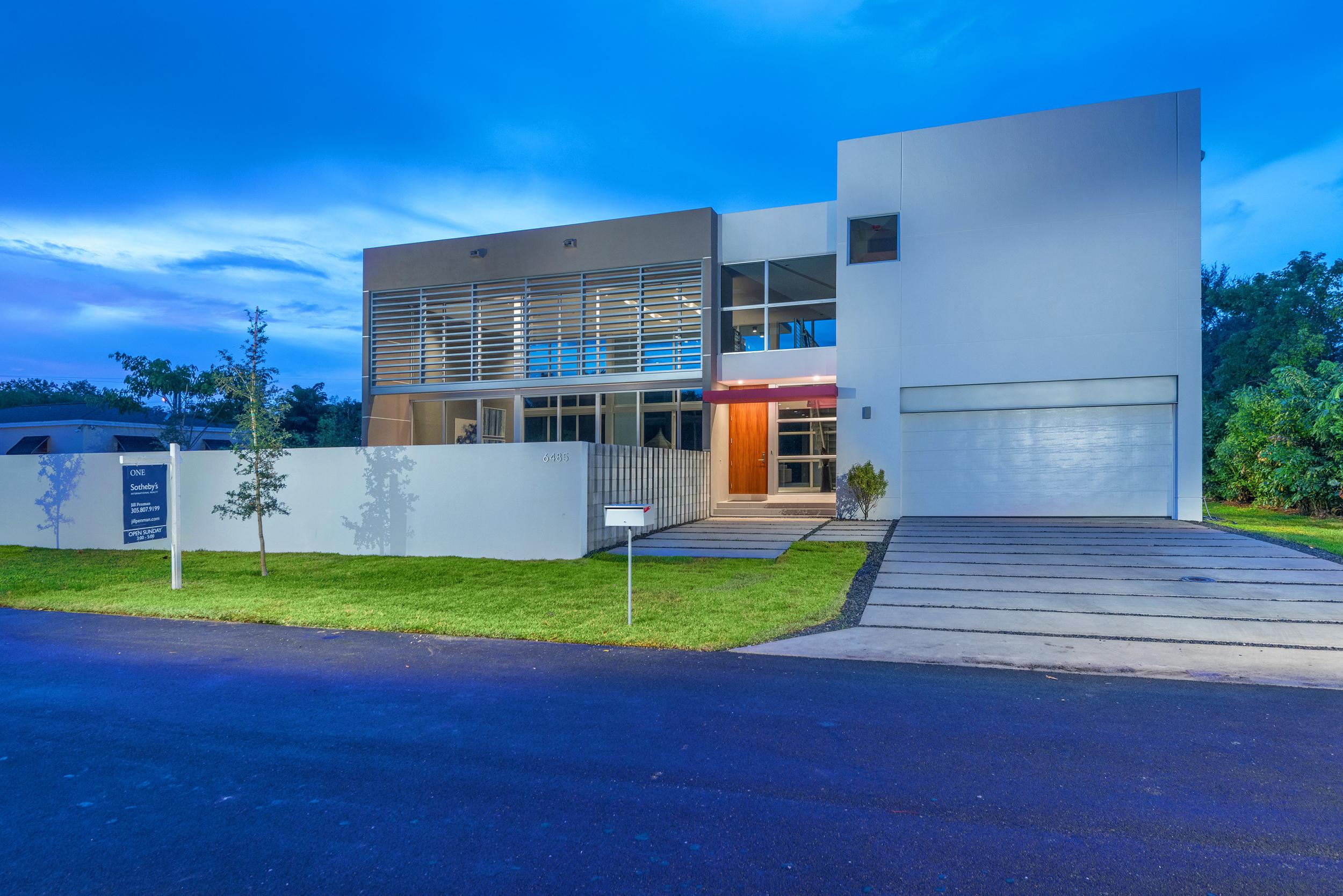 The Setting Homes Plum House Miami Florida Exterior Night TARIS Real Estate
