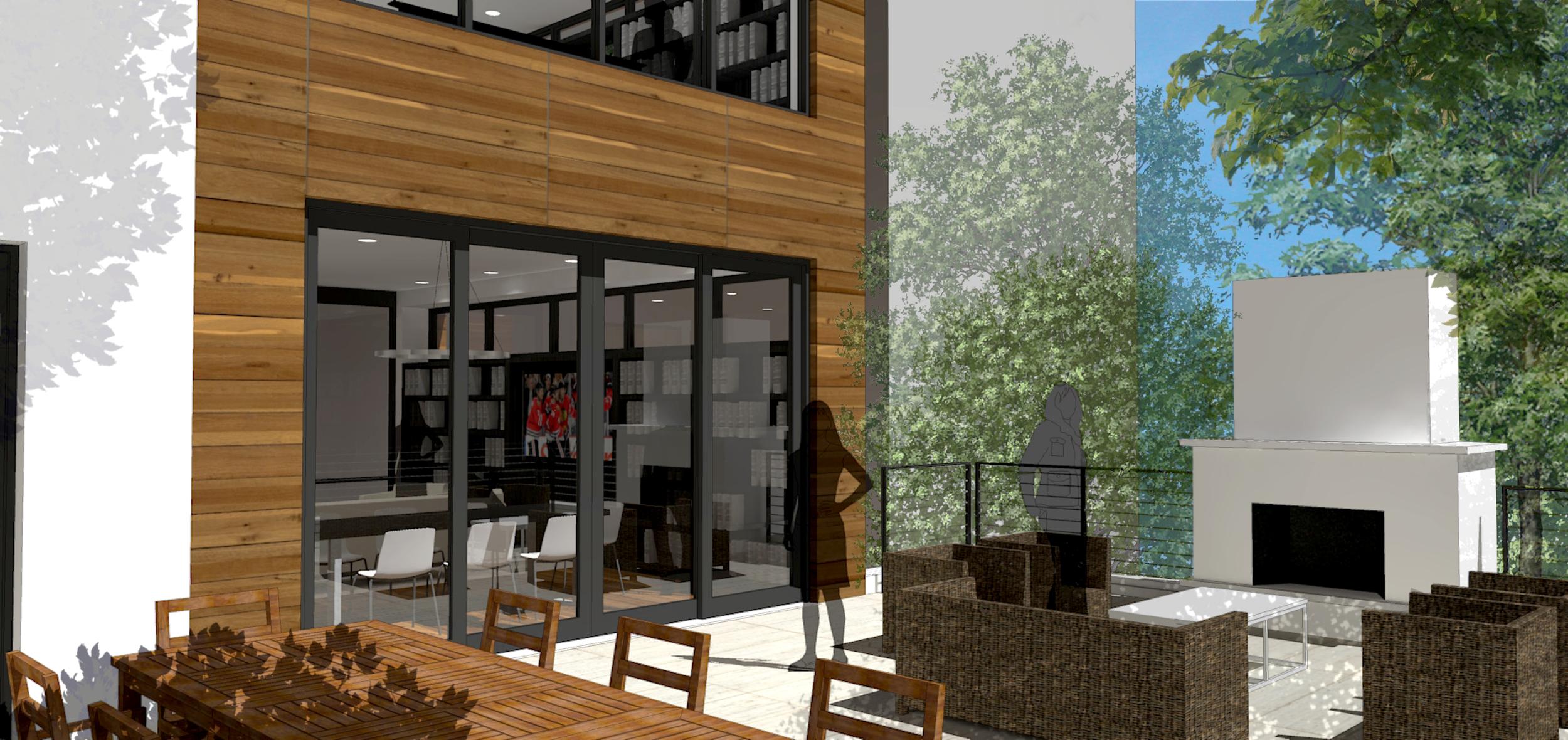 1860 North Maud Chicago Exterior Render Terrace TARIS Real Estate