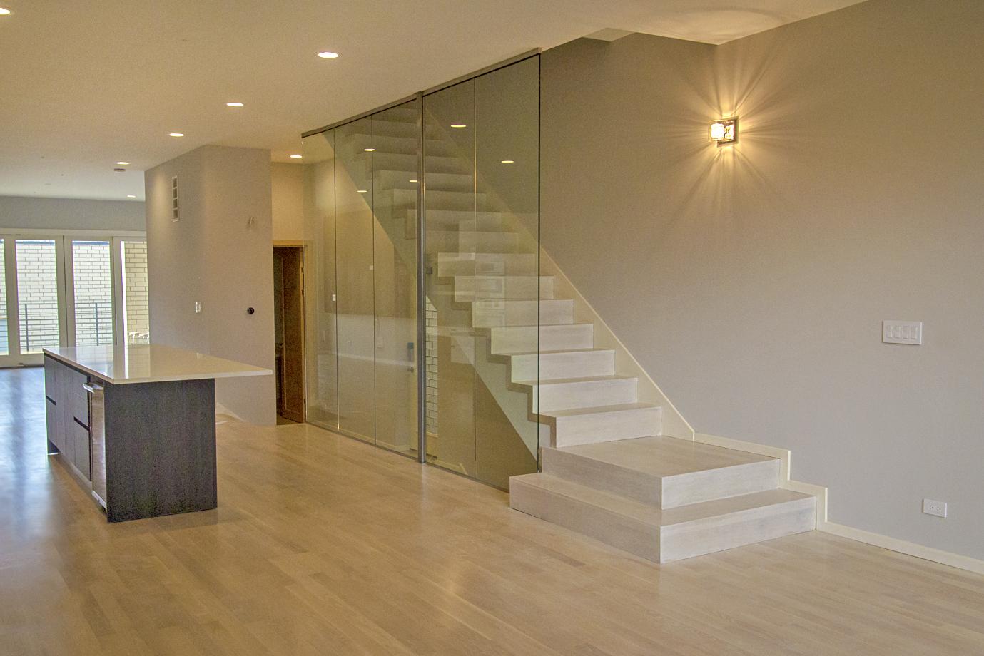2442 West Ohio Chicago Interior Staircase TARIS Real Estate