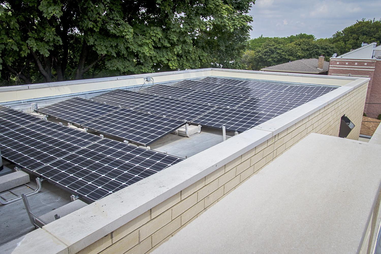 2442 West Ohio Chicago Exterior Roof Solar Panels TARIS Real Estate