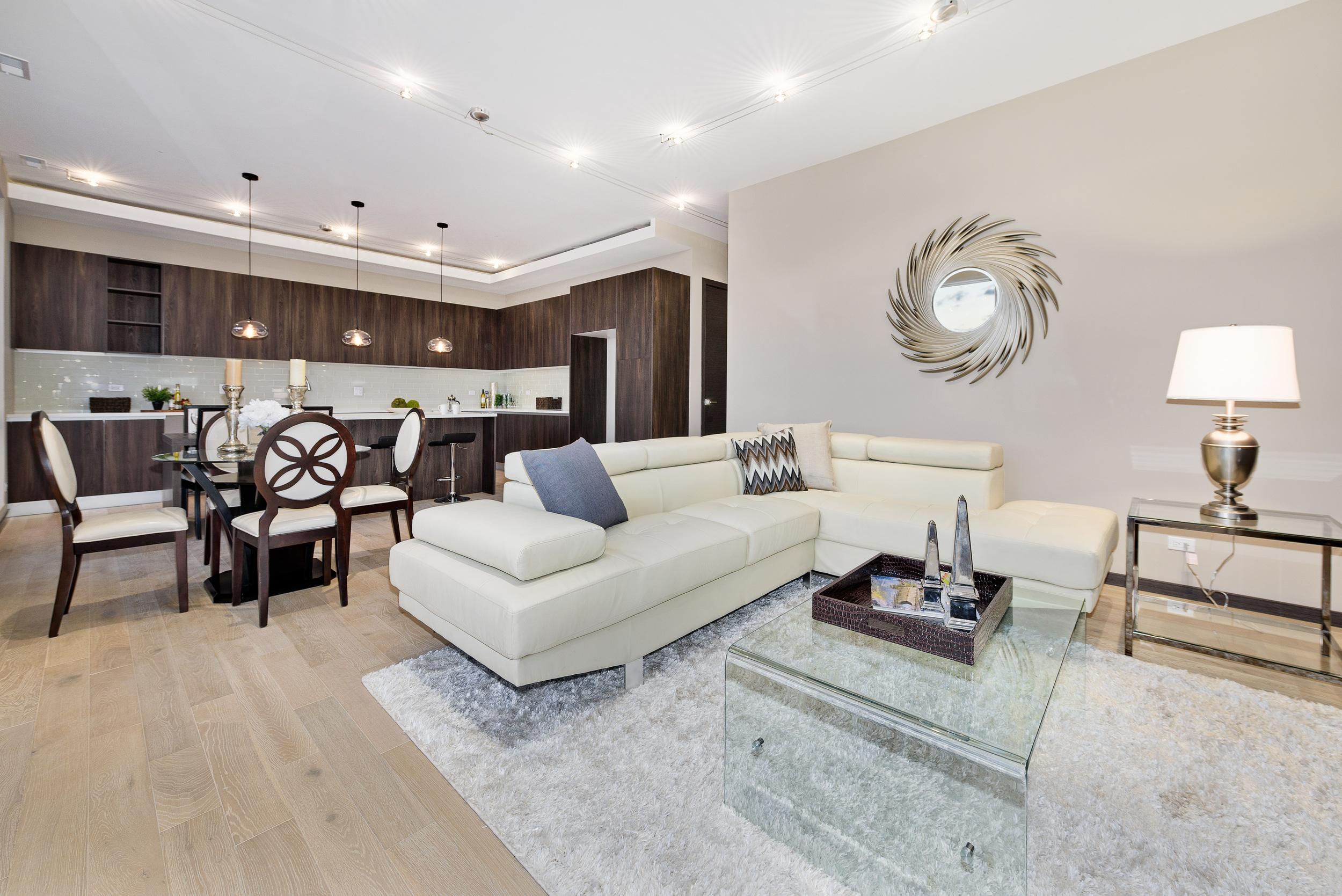 707 North Western Chicago Interior Living Room TARIS Real Estate