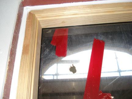 Figure 6: Air dam sealant installed around window