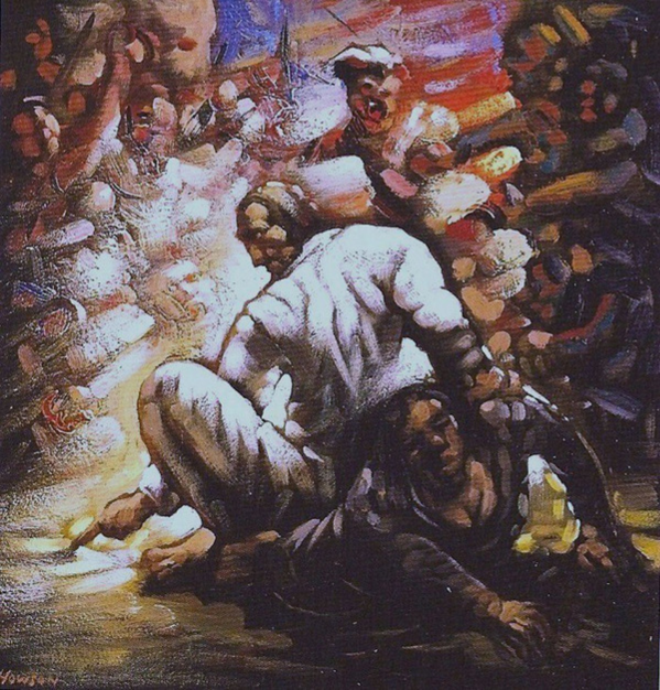 Christ and the woman caught in adultery by Peter Howson