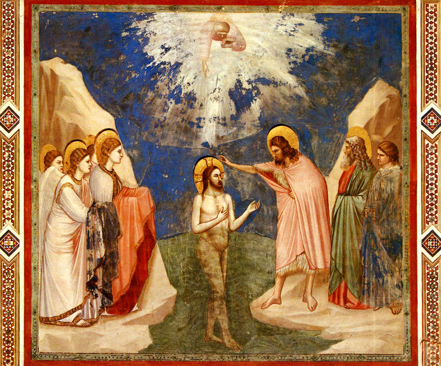 """""""Baptism of Christ"""" by Giotto (1305)"""