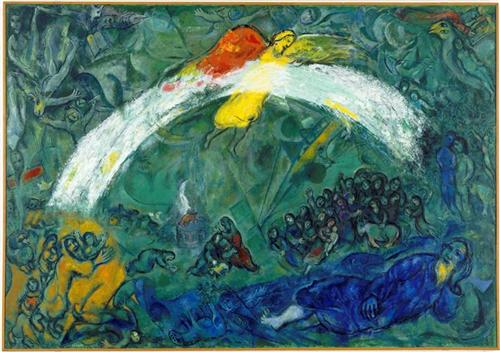 """""""Noah and the Rainbow"""" by Marc Chagall (1966)"""