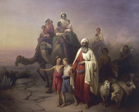 """The March of Abraham"" by Jozsef Molnar (1821-1899)"