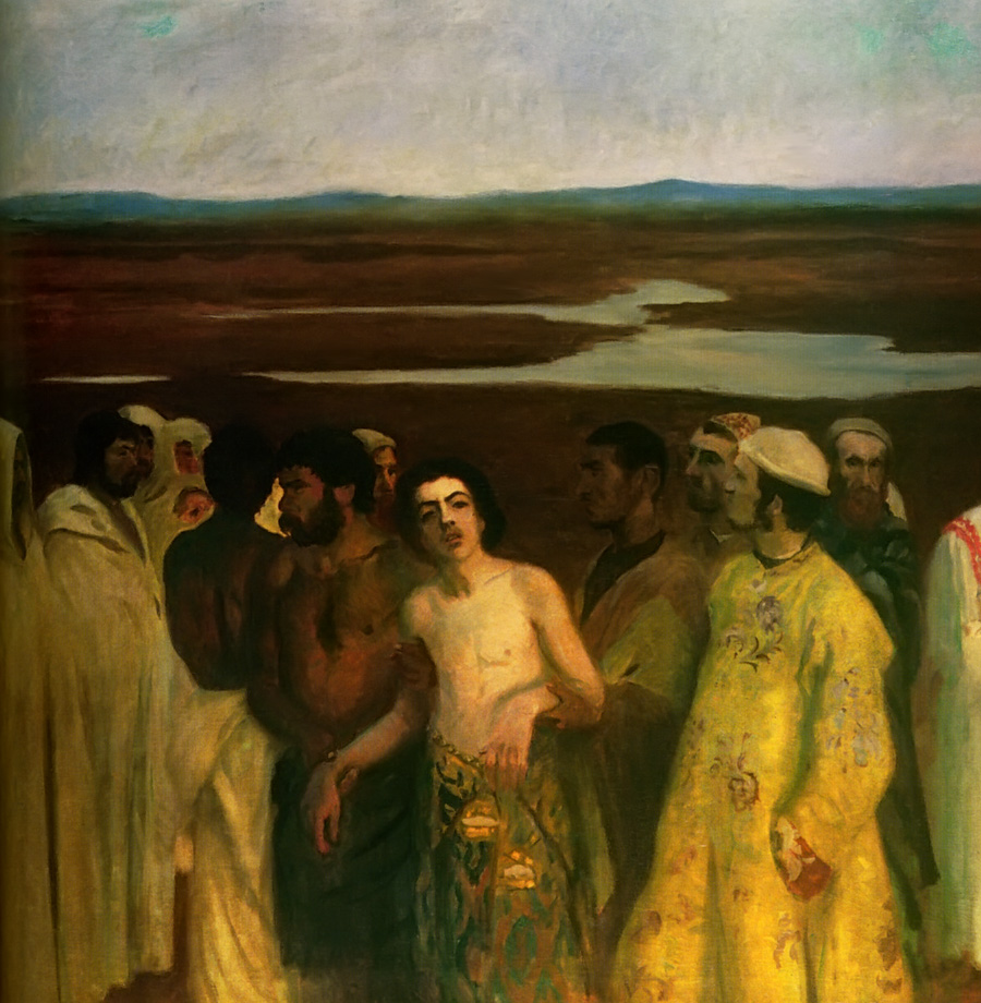 """Joseph Being Sold Into Slavery"" by Károly Ferenczy (1900)"