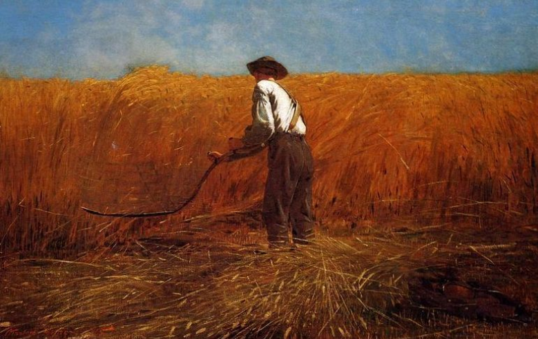 """""""The Veteran in a New Field""""by Winslow Homer (1865)"""