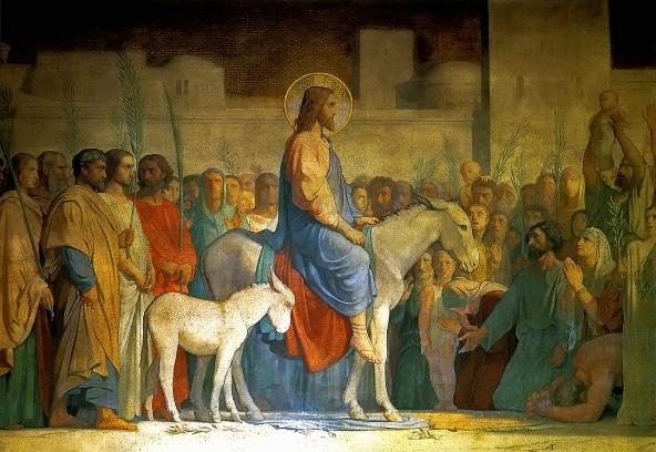 """""""Christ's Entry into Jerusalem"""", by Hippolyte Flandrin (1842)"""