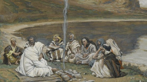 """""""Meal of our Lord and the Apostles"""" by James Tissot (1894)"""