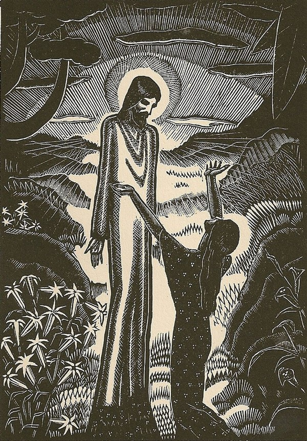 """""""Jesus and Mary Magdalene"""", by James Reid (1930)"""