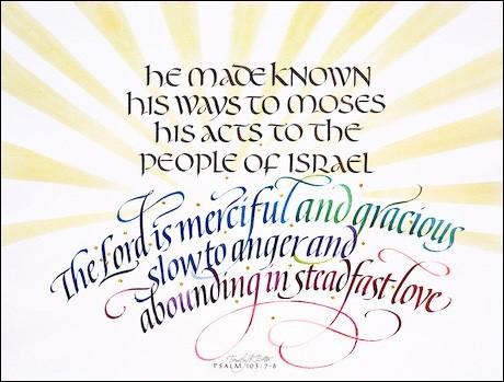 Psalm 103:7-8, by Timothy Botts