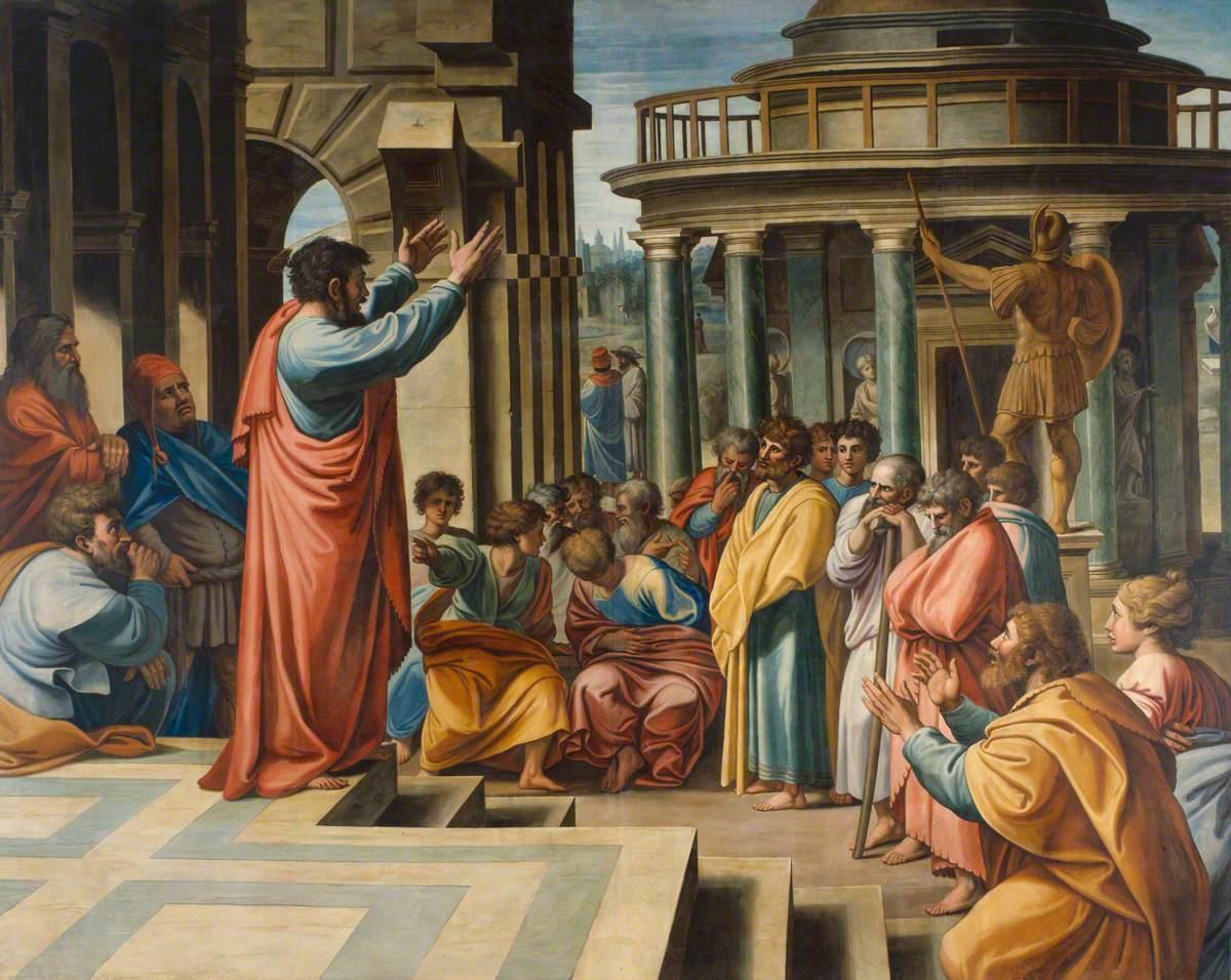 Paul Preaching in the Aeropagus (1675) by James Thornhill