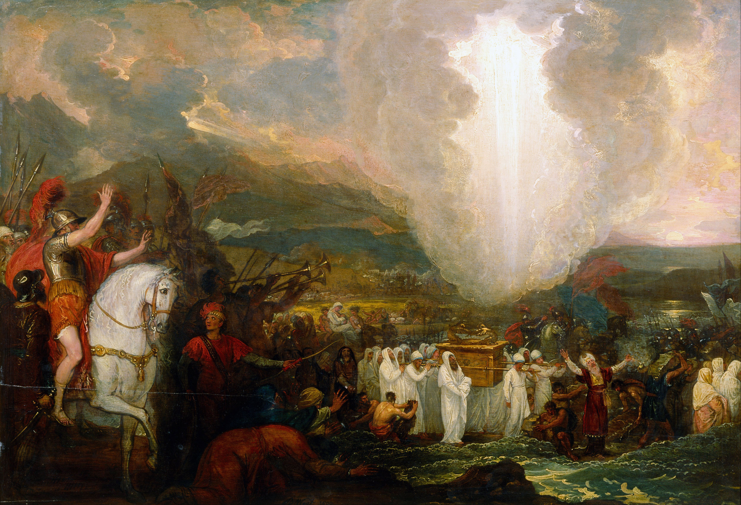 Joshua Passing the River Jordan with the Ark of the Covenant by Benjamin West