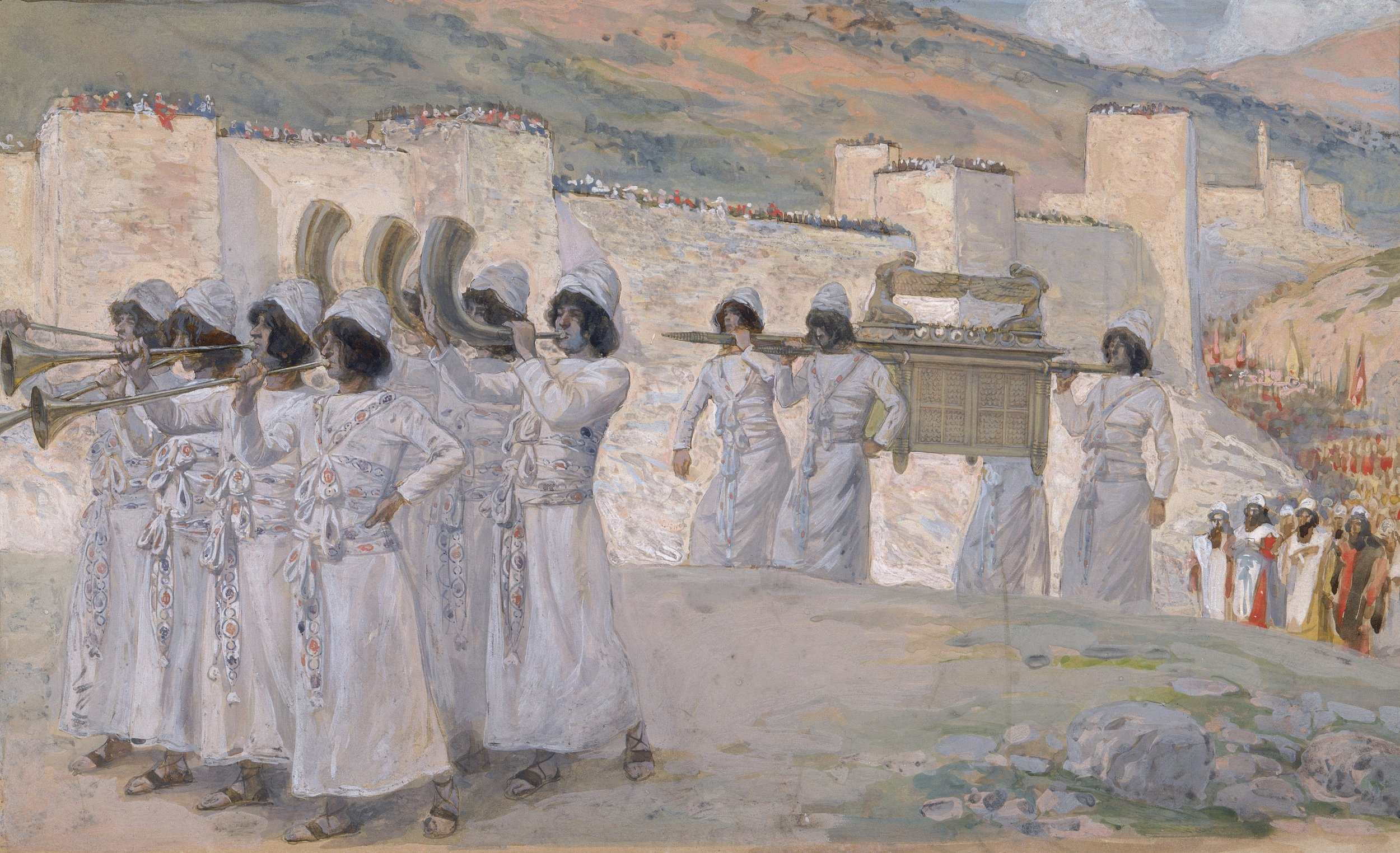 The Seven Trumpets of Jericho by James Jacques Joseph Tissot
