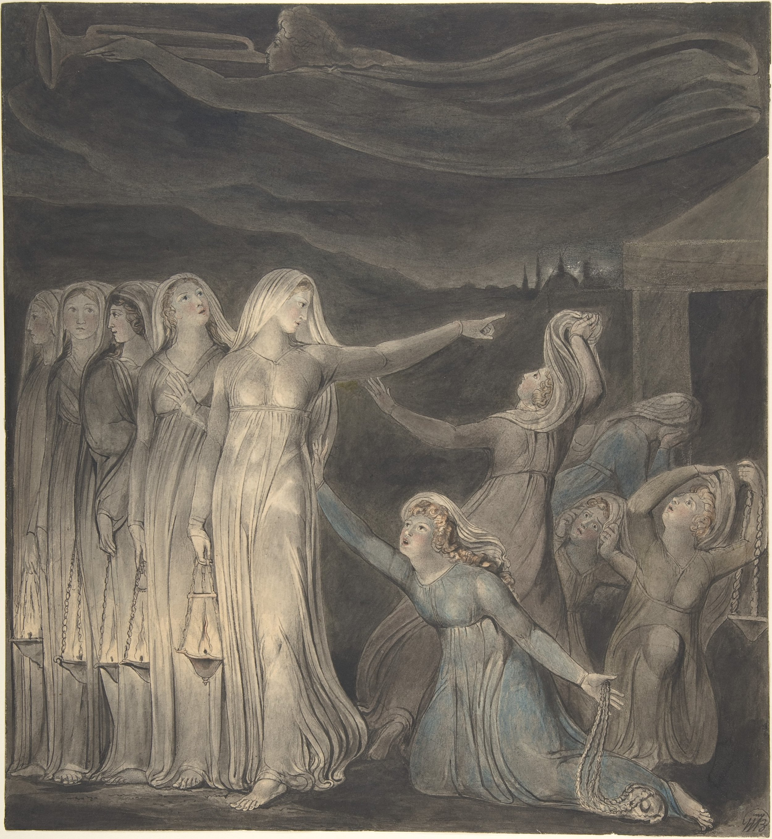 The Parable of the Wise and Foolish Virgins by William Blake (1880)