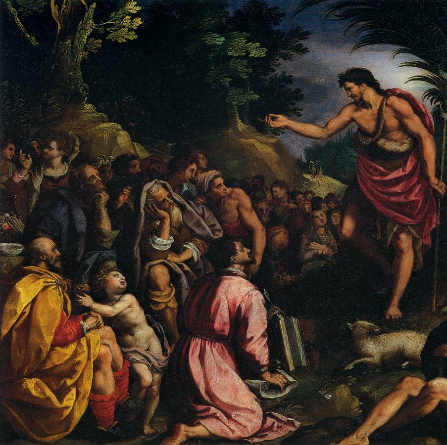 The Preaching of St. John the Baptist by Alessandro Allori (1603)