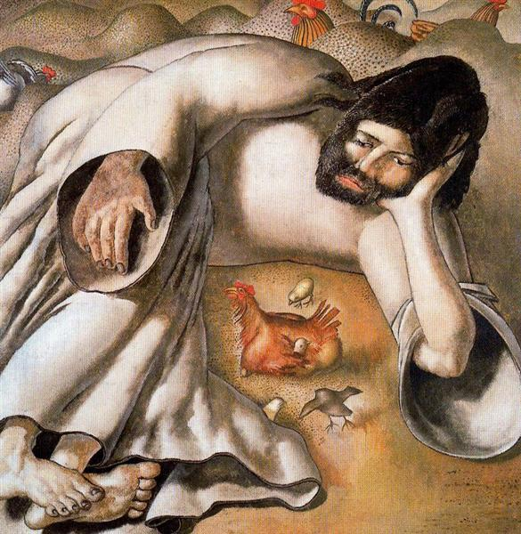 Christ in the Wilderness - The Hen by Stanley Spencer