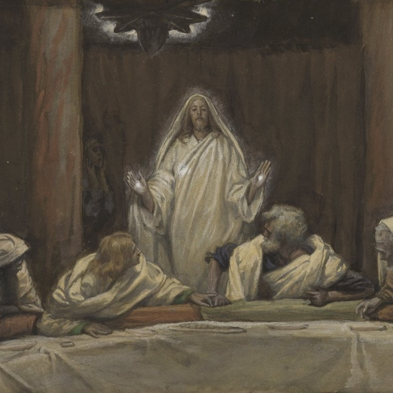 Appearance of Christ at the Cenacle by James Tissot