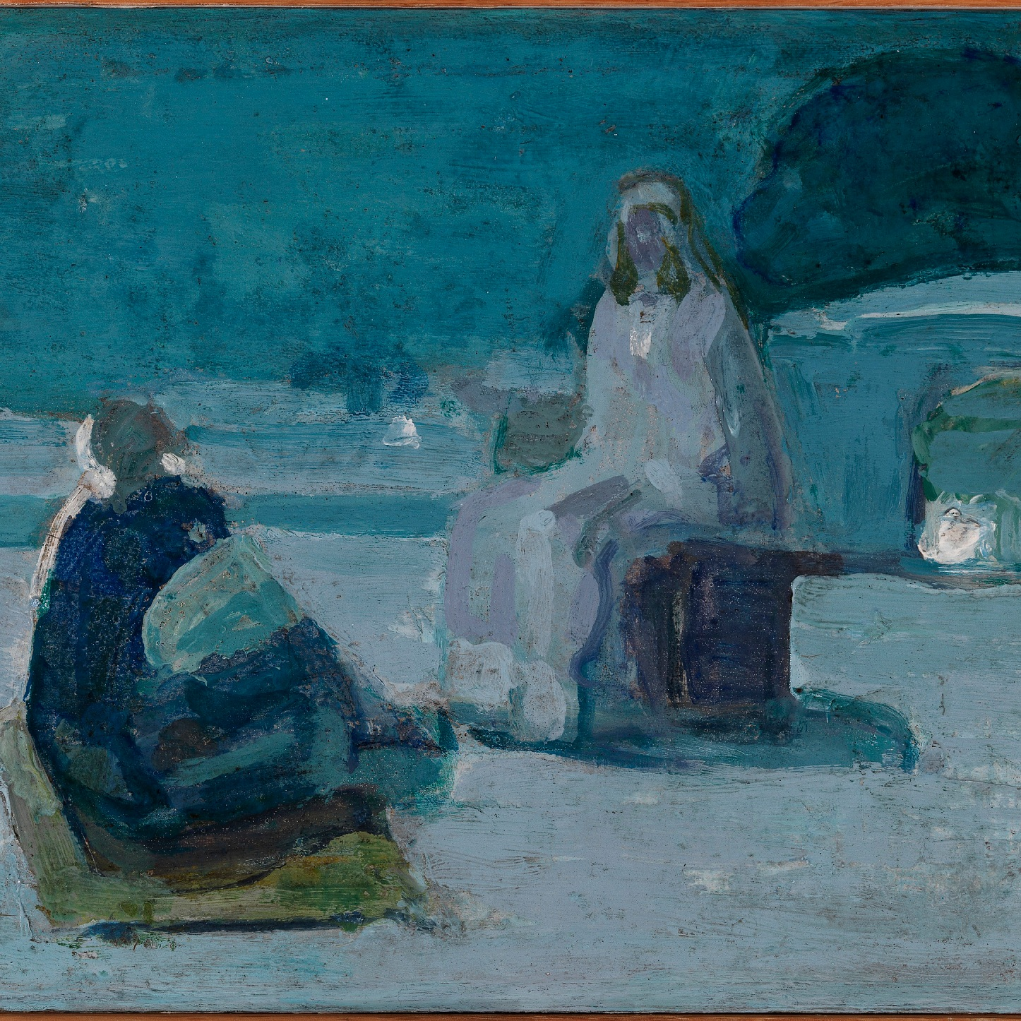 Study for Christ & Nicodemus on a Rooftop by Henry Ossawa Tanner (1923)