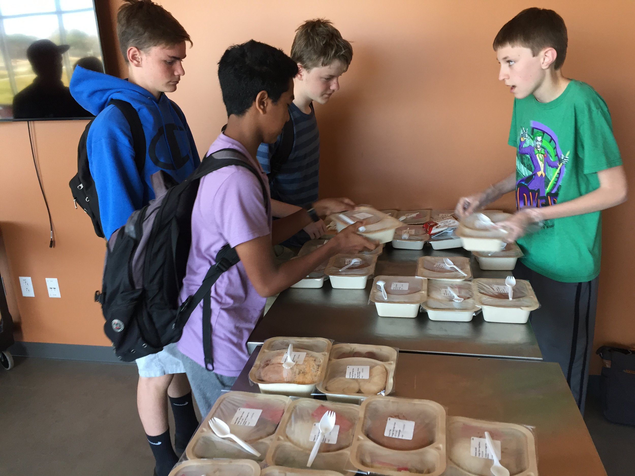 Time to Chill - Hot lunch, smash ball, ping pong, club meetings, music, and games! The 30-minute lunch period is about food, a break in the day, relaxing and connecting with others.
