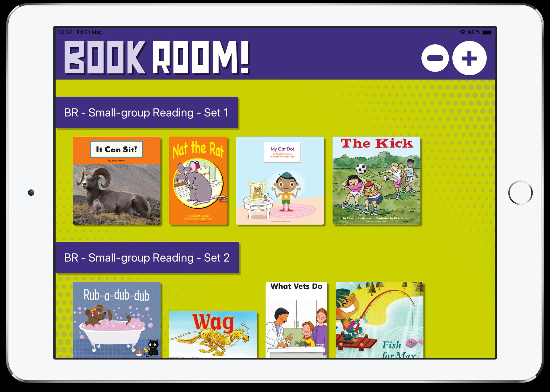 BookRoom! iPad home