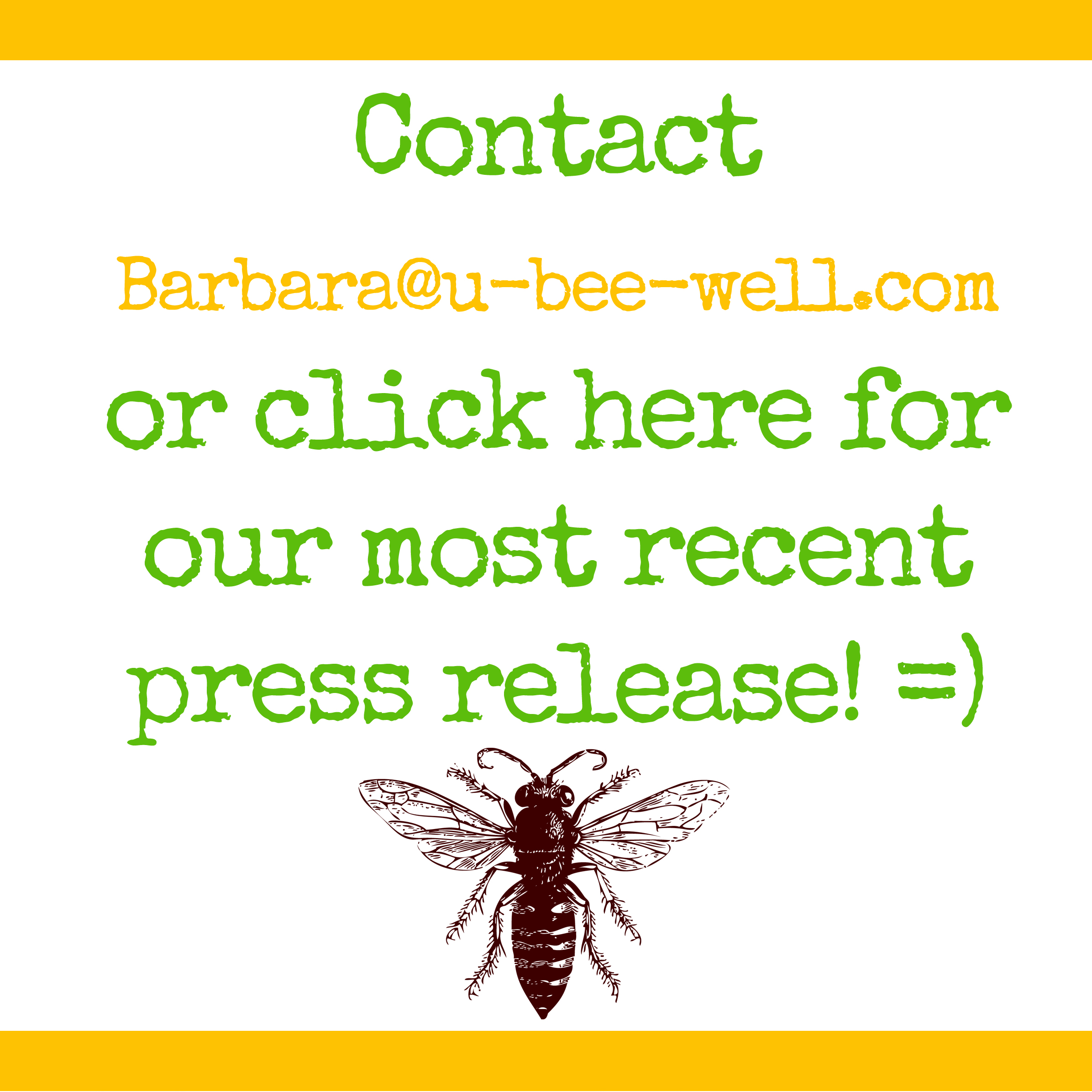 Press Release   Contact  Barbara@u-bee-well.com  or download our most recent version about how we're saving Philadelphia's Queen Bees  here!