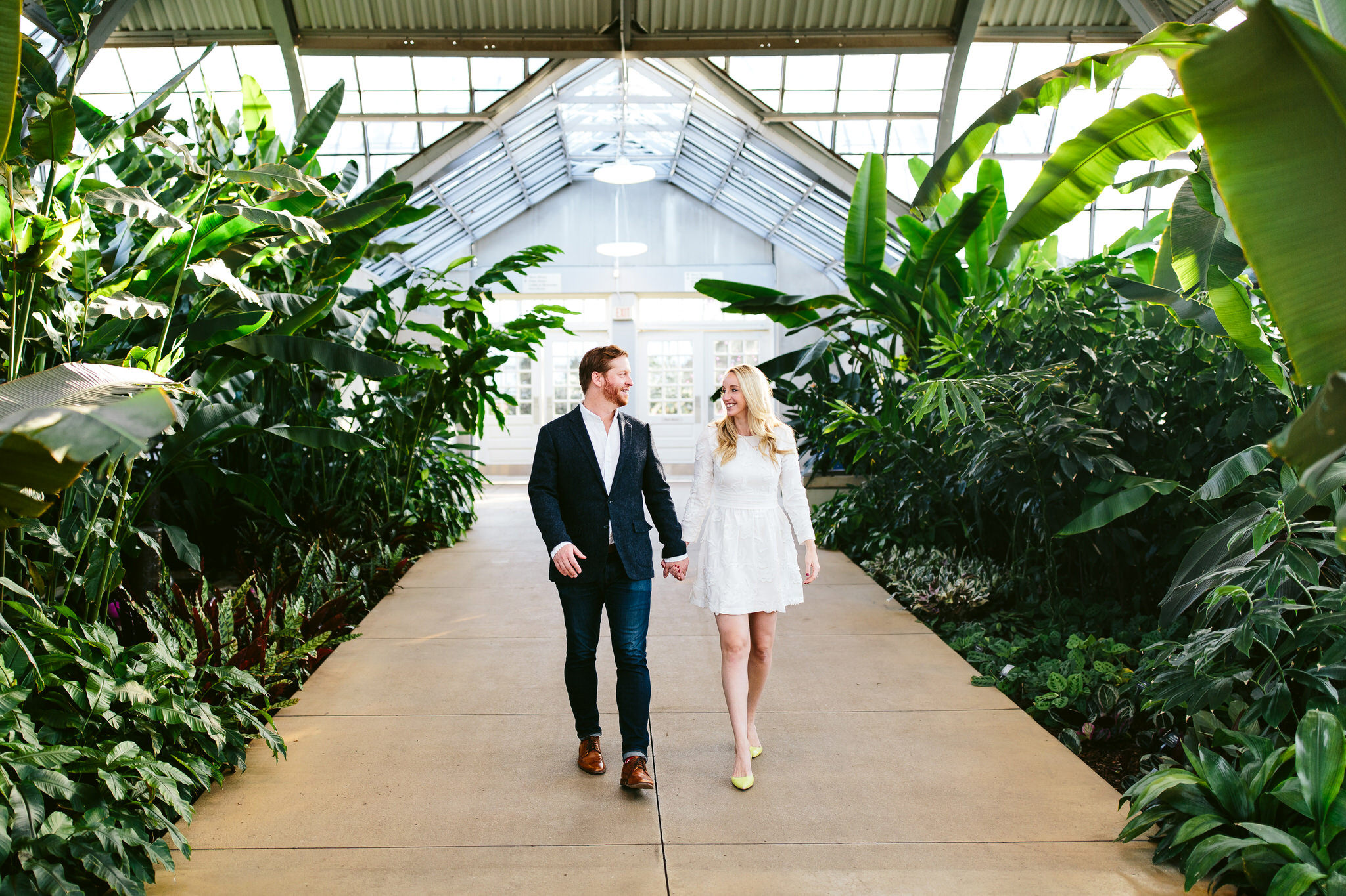 Garfield Park Conservatory Wedding.Charlie Abby Chicago Engagement Session At Garfield Park