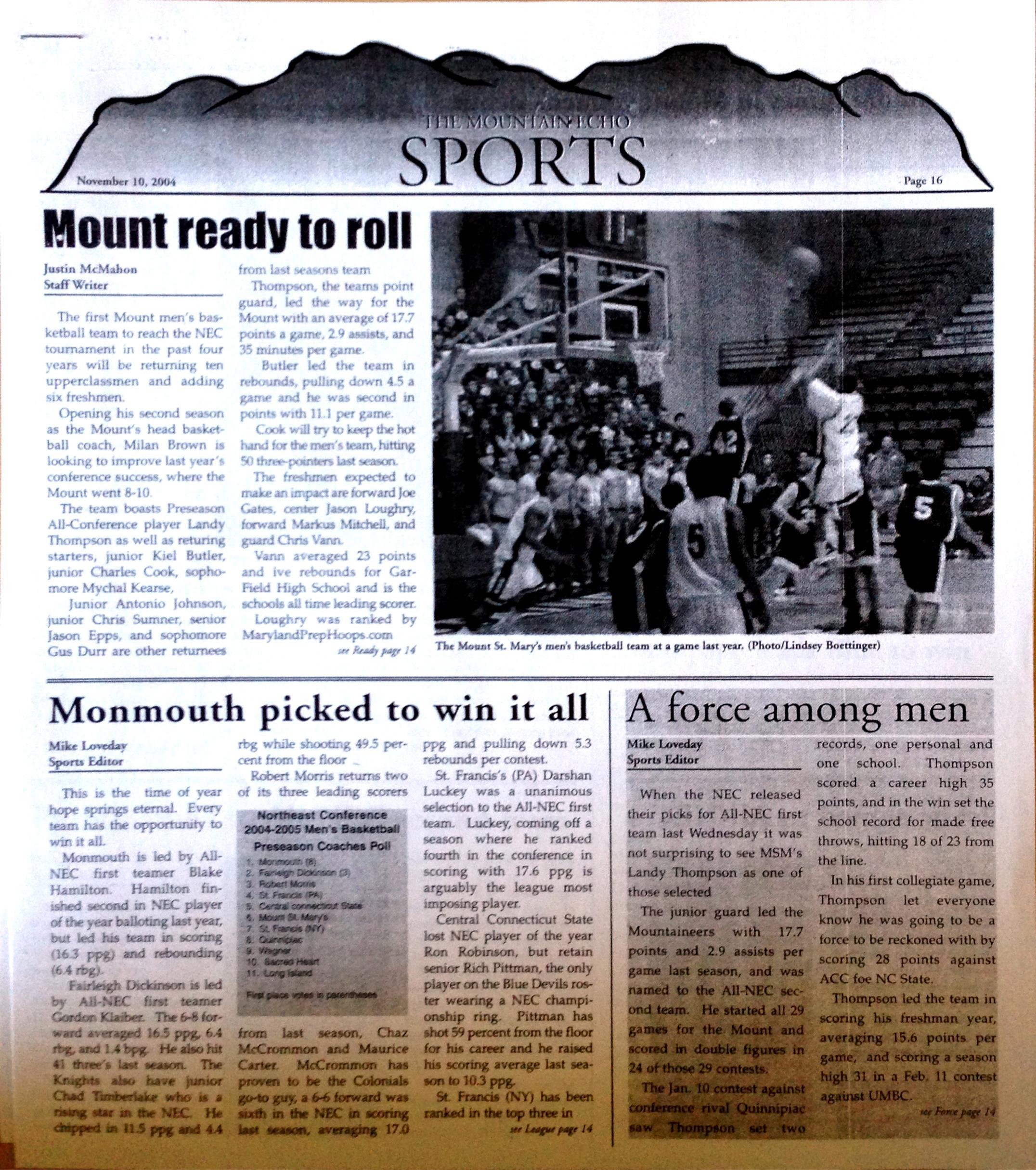 The Mountain Echo, November 10, 2004