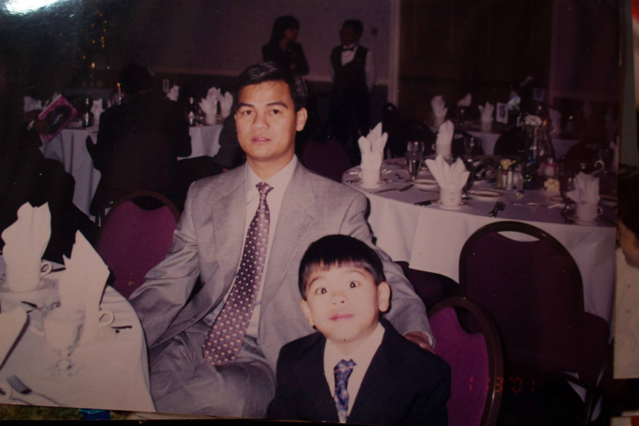 My father and I. January 2001