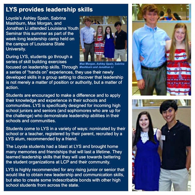What a #SuperGreat article written in the #LoyolaCollegePrep Parent Flyer! A great way to spread the word about what you learned at #LYS2014.