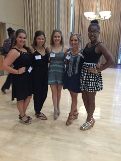 Pictured from left to right are: Sarah Gauthier, Faith Ryan, Naomi Westbrook, Reagan Pfister, and Nyla Moore.