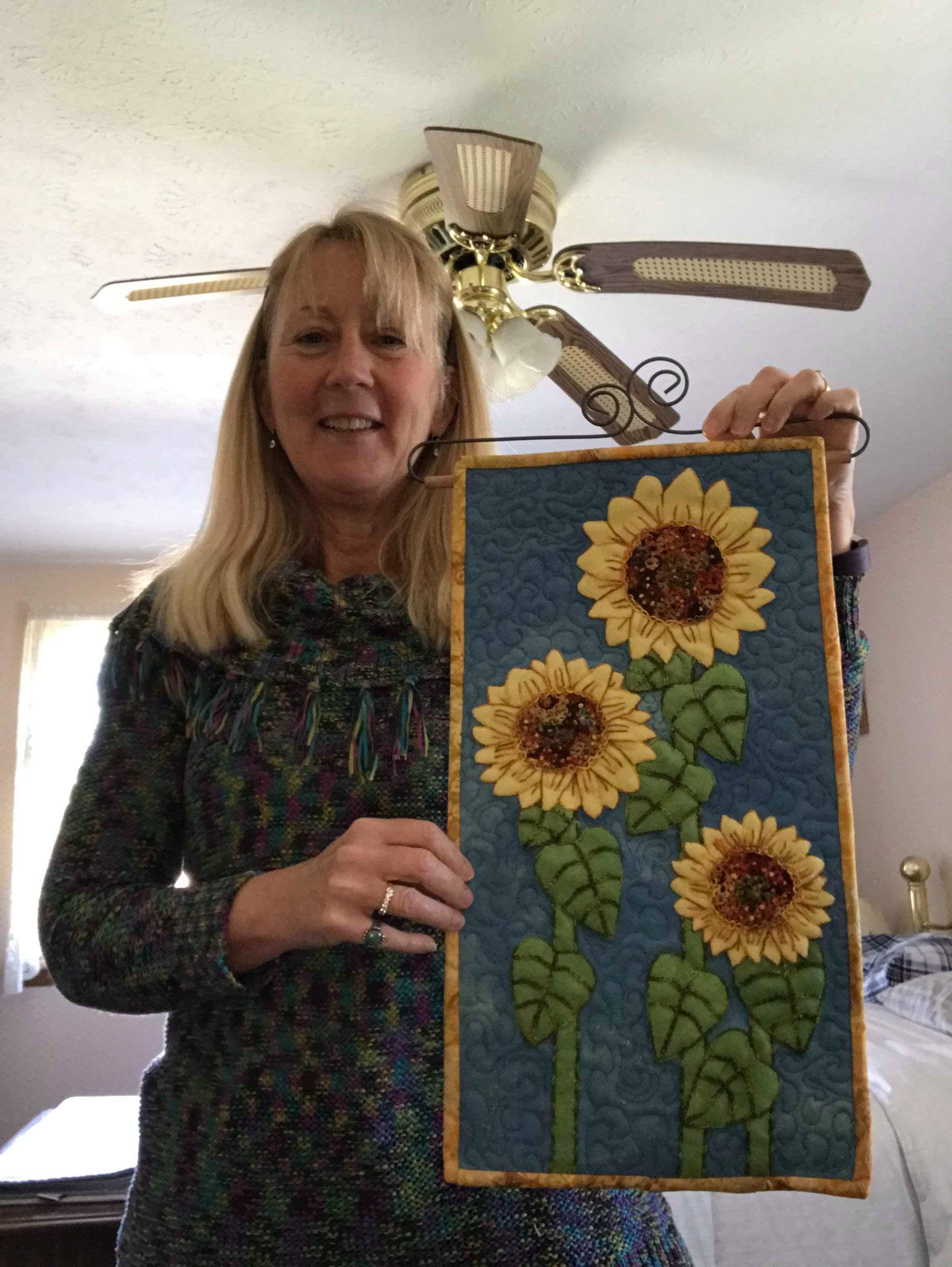 Linda Rife and her Tuscany Sunflowers