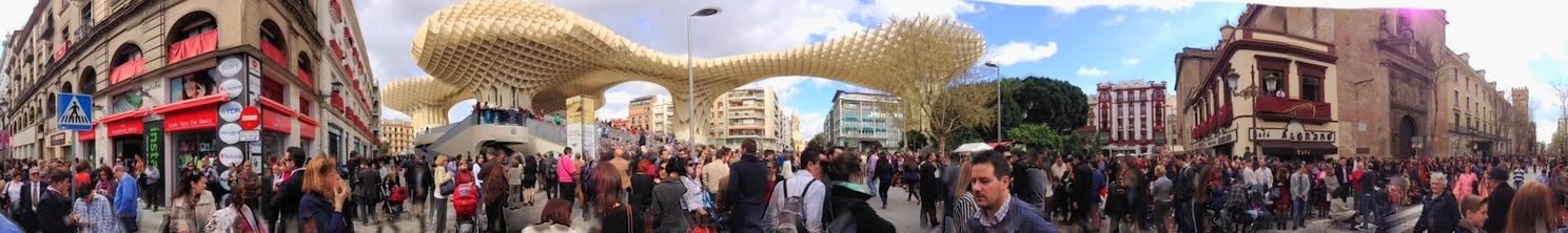 Plaza de la Encarnacion is located in the old quarter of Seville.