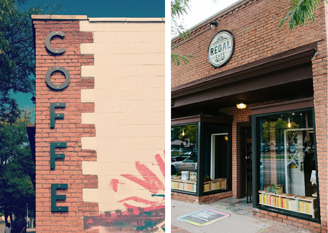 Designers    Joshua Smith    and    Jessica Janda    developed a comprehensive signage package for the block, offering each business an opportunity to develop and elevate their graphic identity.