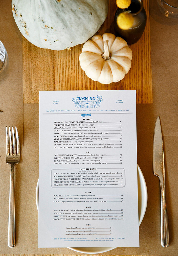 Seasonal menus designed by Reunion Goods and Services