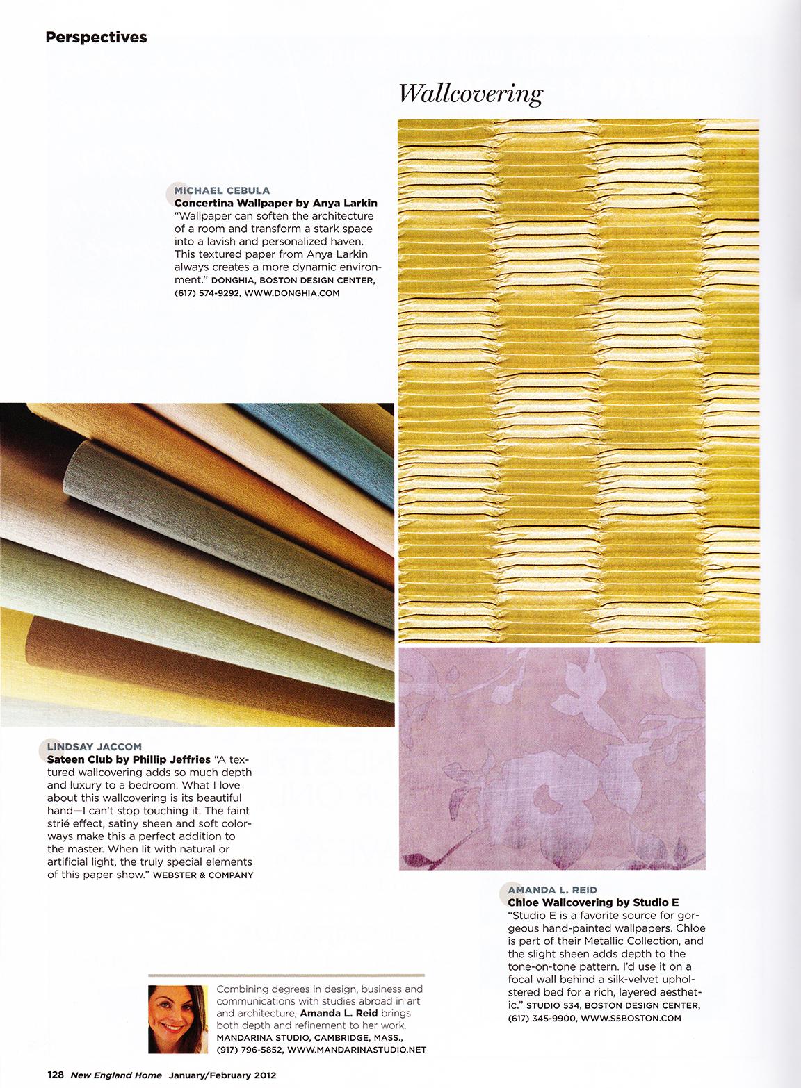 Mandarina Studio :: New England Home Interior Design Magazine