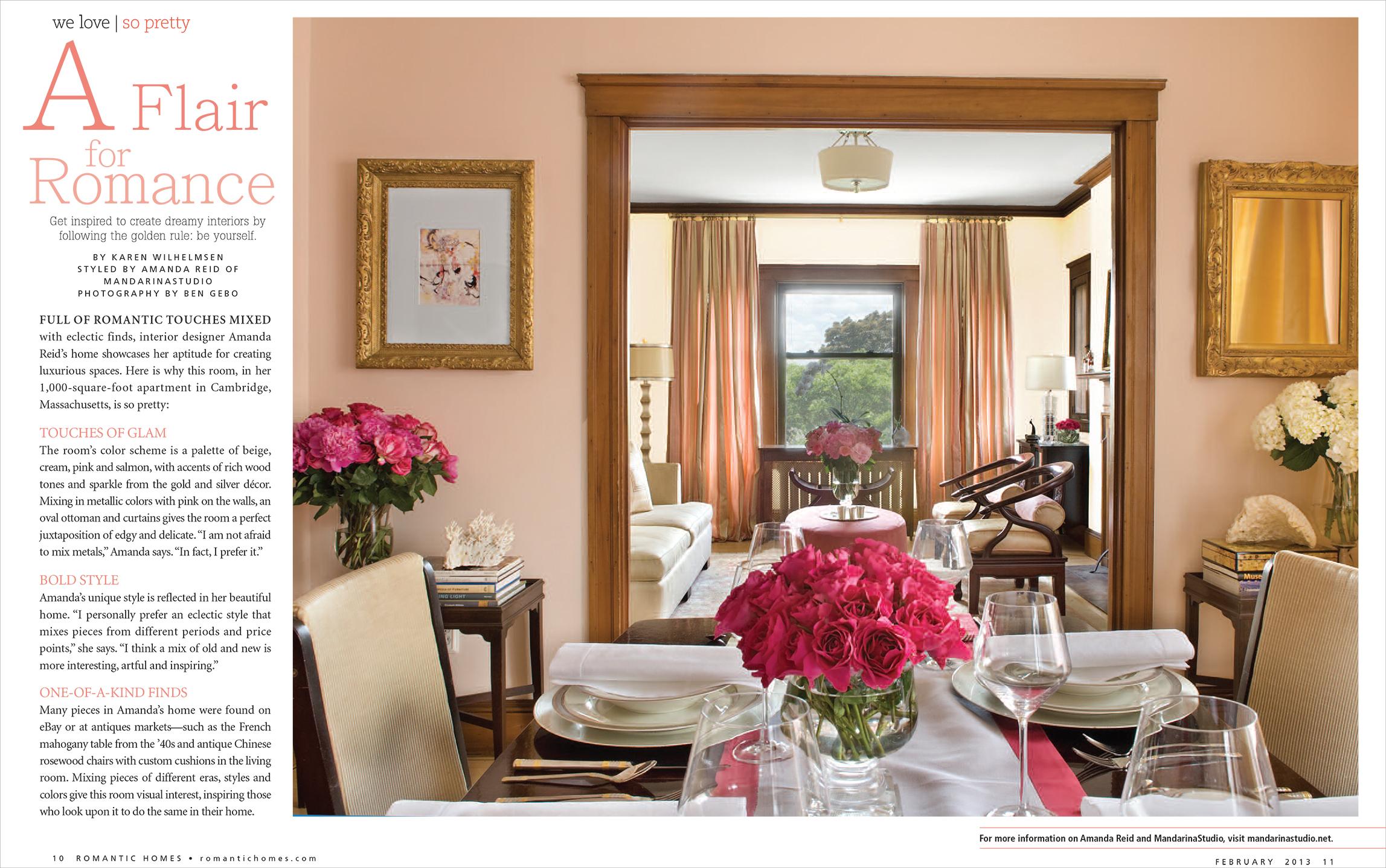 Mandarina Studio :: Romantic Homes Interior Design Magazine