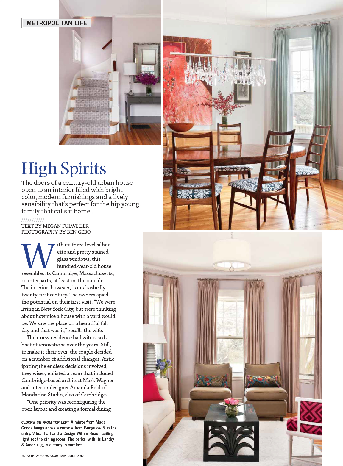 Mandarina Studio :: New England Home Interior Design Magazine