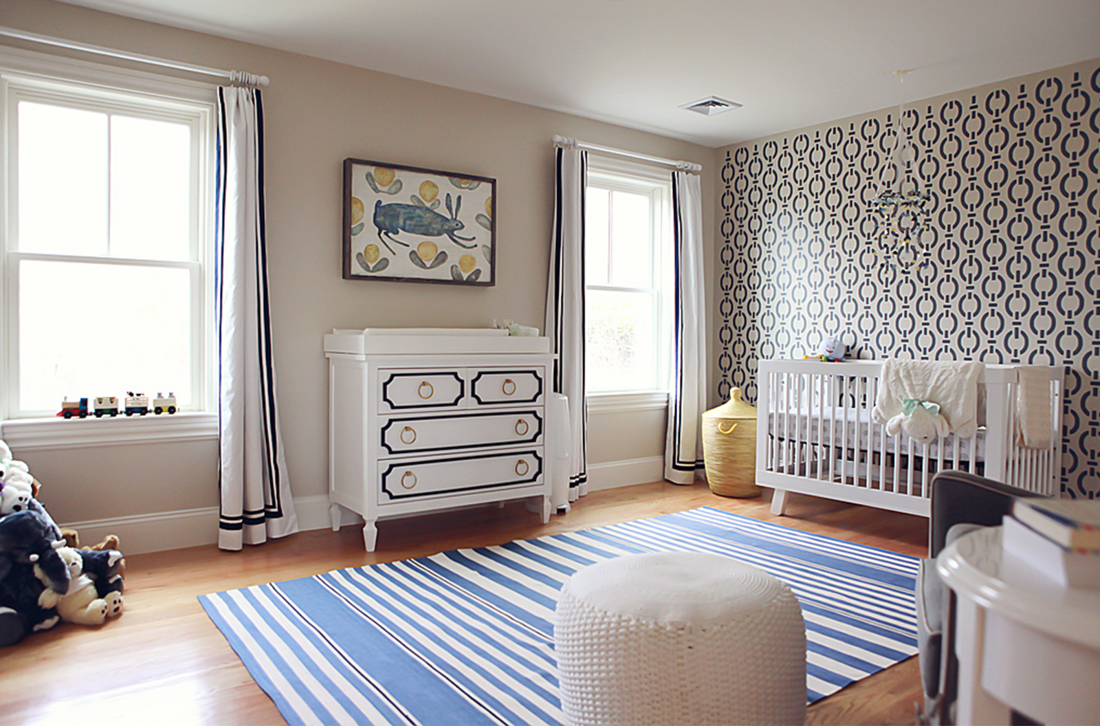 Mandarina Studio :: Boston nursery interior design contemporary bold color baby room