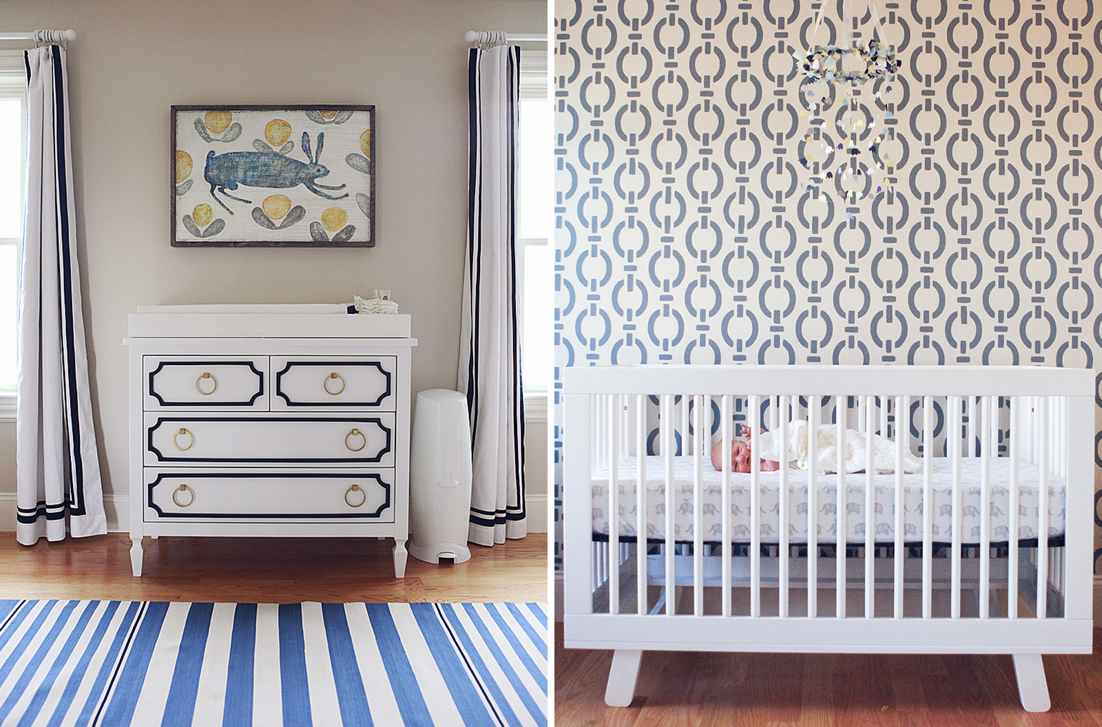 Mandarina Studio :: Boston interior design contemporary bold pattern nursery