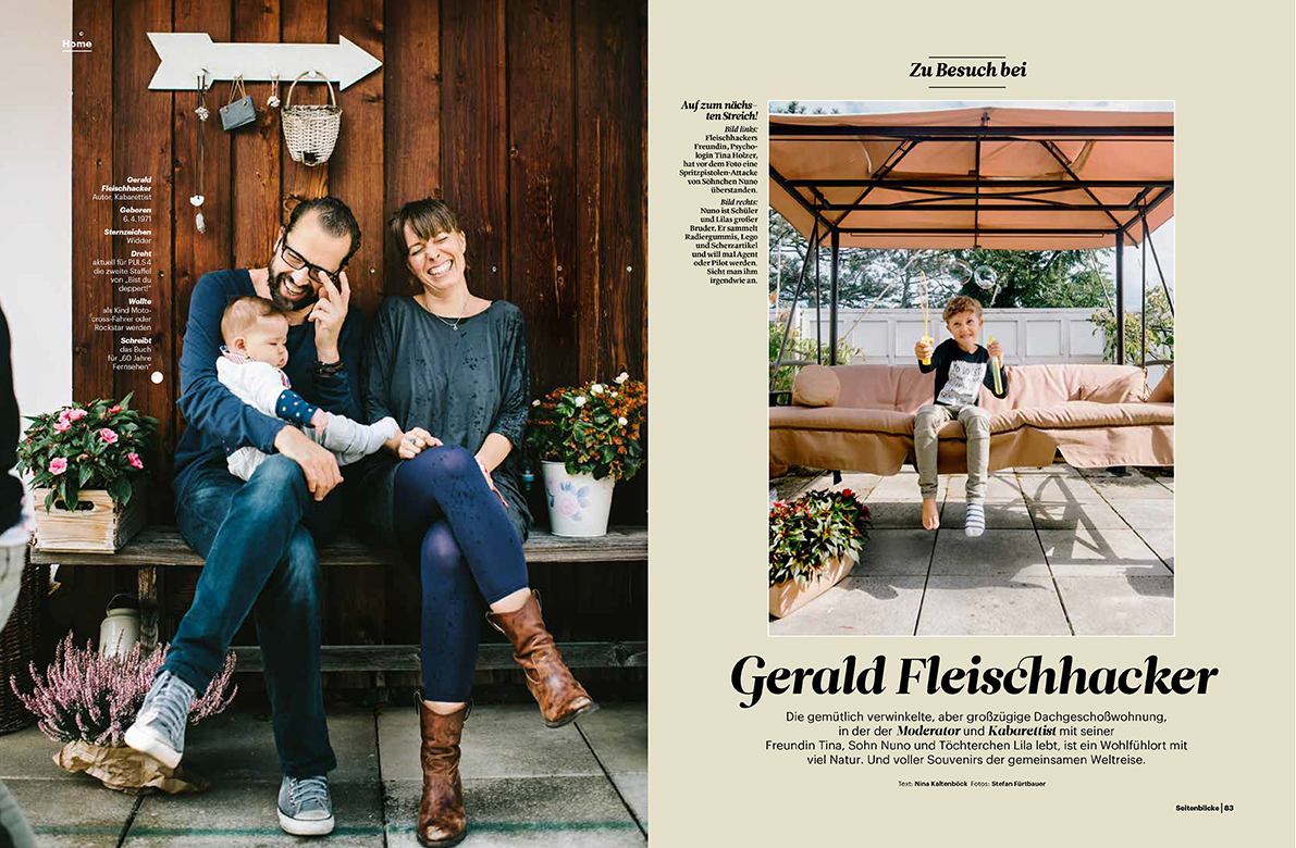 Gerald Fleischhacker Homestory for Seitenblicke Magazin