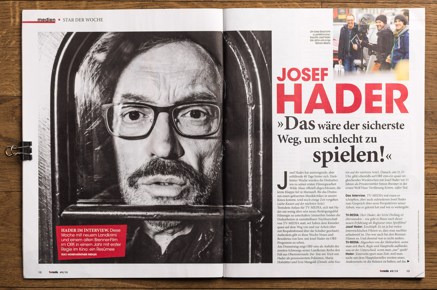 Josef Hader in TV Media